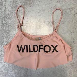 Wildfox Morning Sunrise Crop Flounce Bikini Top